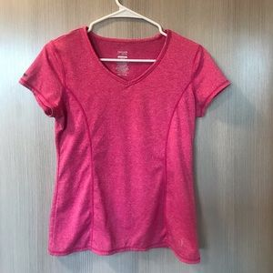Tops - cute pink loose fit workout t-shirt !!